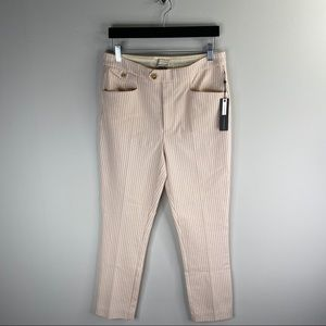 Anthropologie The Essential Slim Striped Pants 6
